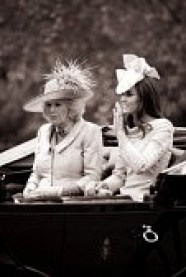 Note the royal posture of Duchess Kate. Camilla, on the other hand, might look into the Royal Posture brace support.