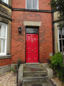 red door home in wales