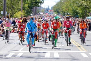 Seattle's naked bike ride.