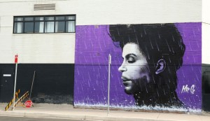 SYDNEY, AUSTRALIA - APRIL 28: A view of the Prince mural on April 28, 2016 in Sydney, Australia. The mural stands 7m high and 5m wide by Penrith local Graham Hoete on Sunday. Rock legend Prince died at his Paisley Park estate in Minnesota on Thursday 21 April aged 57. (Photo by Brendon Thorne/Getty Images)