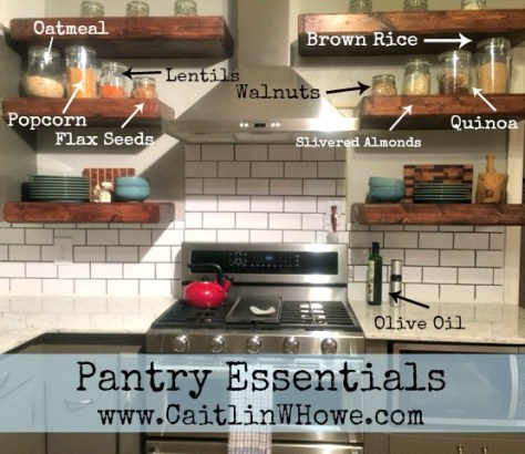 Pantry essentials examples