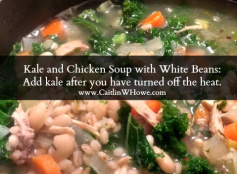 Kale and Chicken Soup with White Beans Tip on Kale