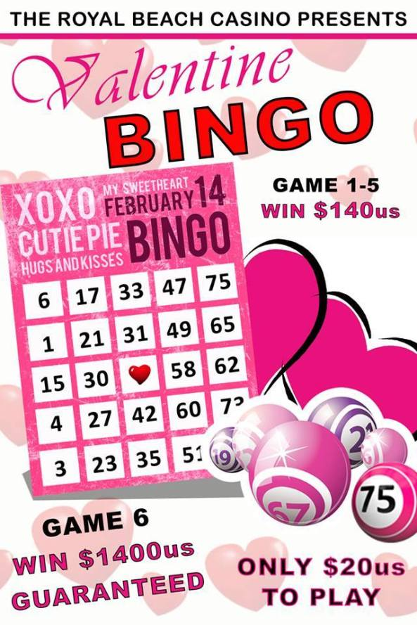 Royal Beach Casino Valentine Bingo