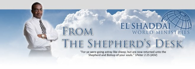 From the Shepherd's Desk by Charles Magaiza