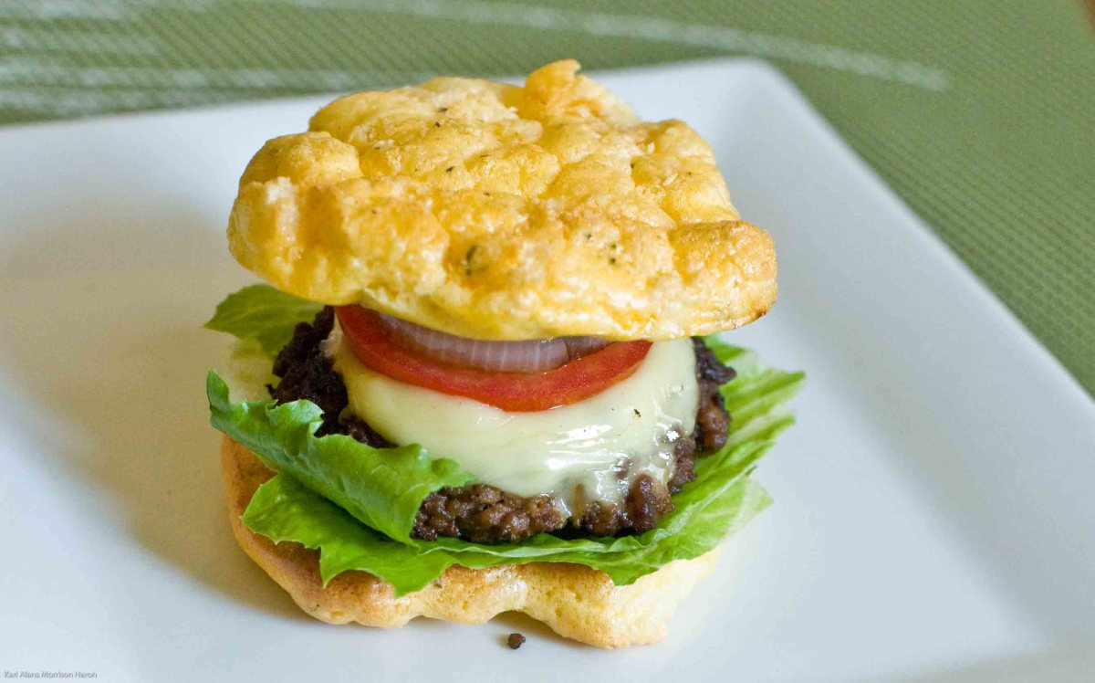 Low Carb , Gluten Free Burger with the Bun!