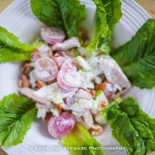 Chicken Waldorf Salad and Apple Walnut Salad