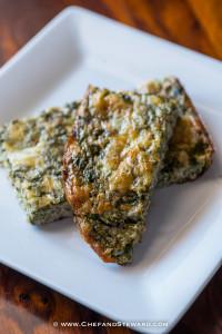 Crustless Calalloo (Amaranth) Quiche   Low Carb, Paleo, Gluten Free