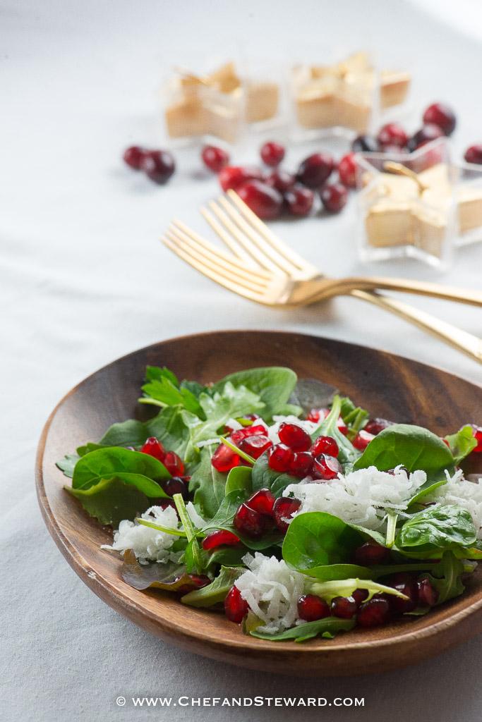 Christmas Salad.Tropical Christmas Salad