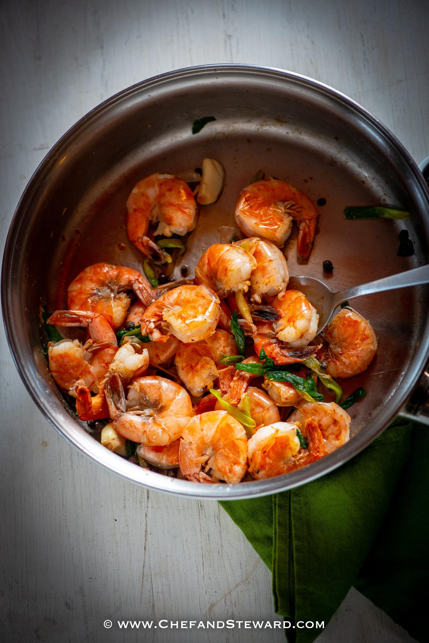 best ever jamaican pepper shrimp recipe  chef and steward®