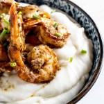 Jerk Shrimp and Cheesy PAN Harina Grits Recipe