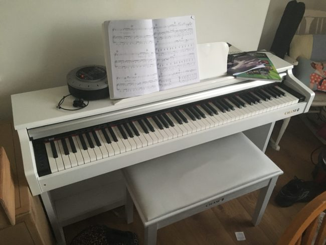 Yamaha White Piano