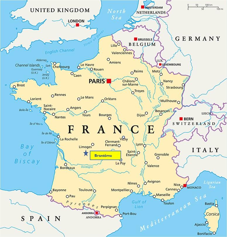 Brantôme Dordogne