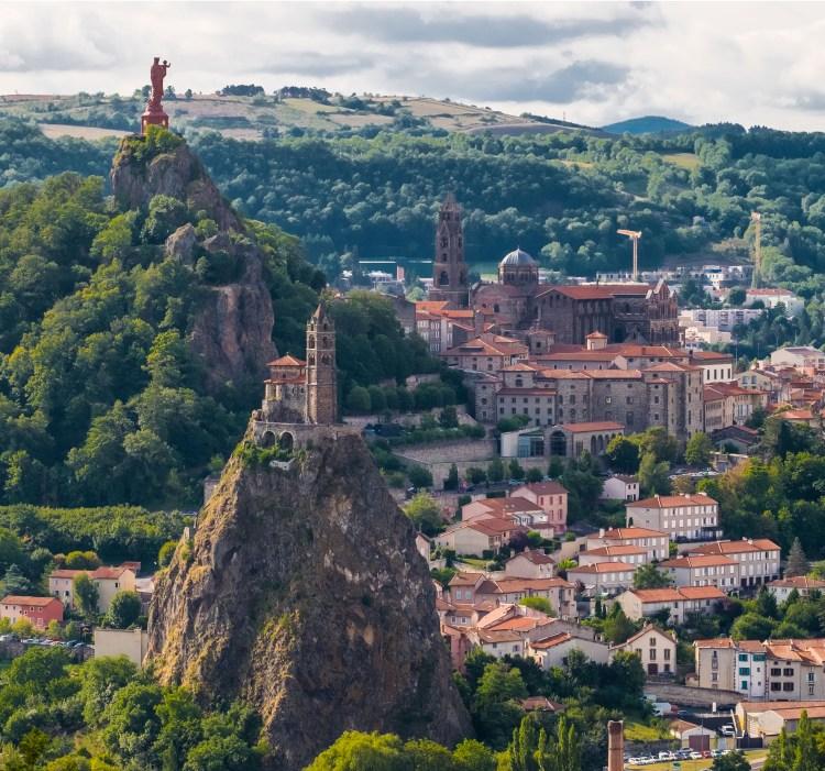 Le Puy en Velay Auvergne Haute-Loire Compostella France