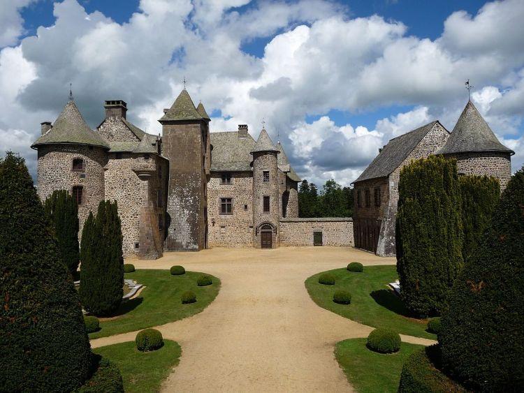 Chateau de Cordès Castle Auvergne Medieval Gardens France Europe