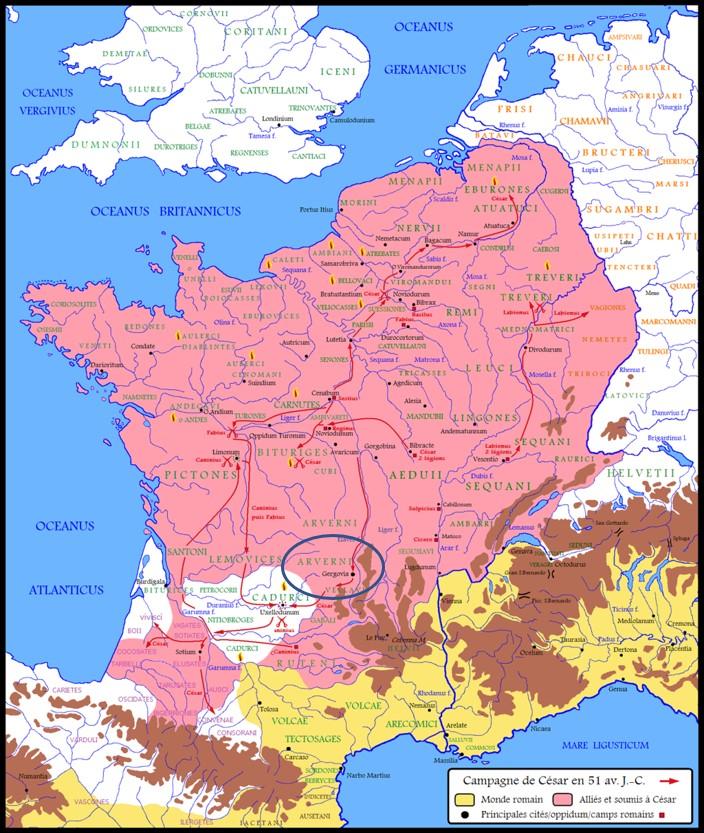 Julius Caesar Gergovie Clermont-Ferrand Auvergne Vercingetorix Gaul Gauls battle