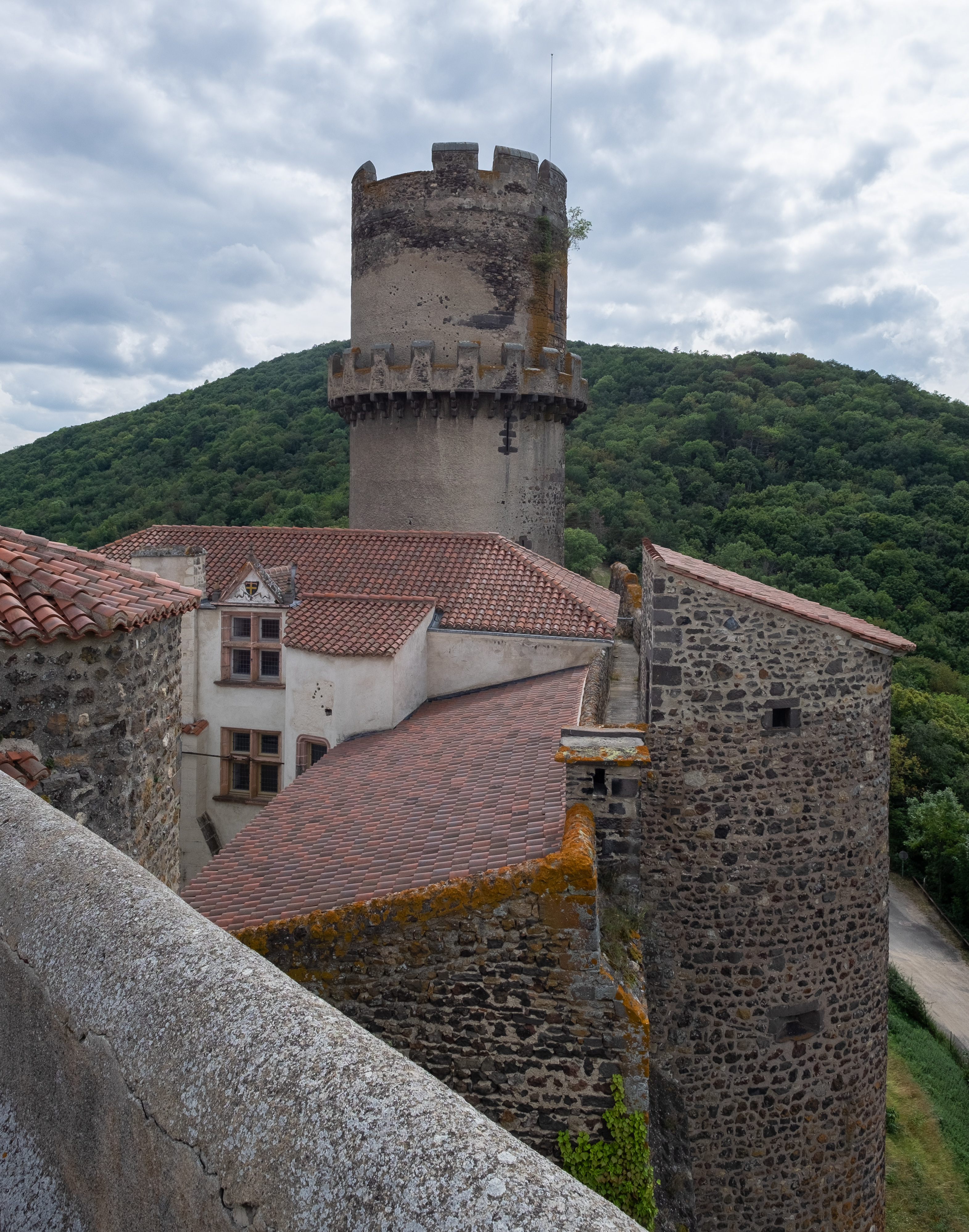 Visit the medieval castle at Tournoel in the deep heart of France