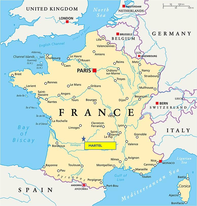 Martel France Map