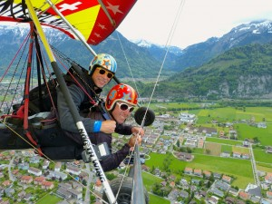 Hang Gliding in Switzerland to Celebrate 60th Birthday