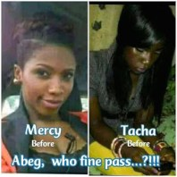 Nigerian dig out throwback pictures of hottest current big brother naija housemate, Tacha and Mercy.
