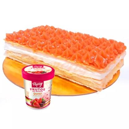 Milhoja + 0.5 L de helado Popsy®