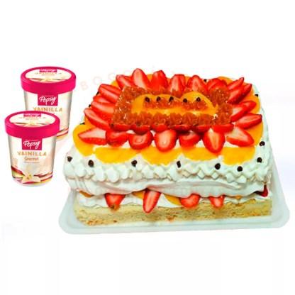 Nancho de merengue + 2 x 0.5L de helado Popsy®