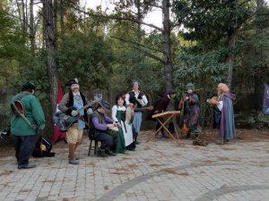 louisiana renaissance festival costumed-musicians