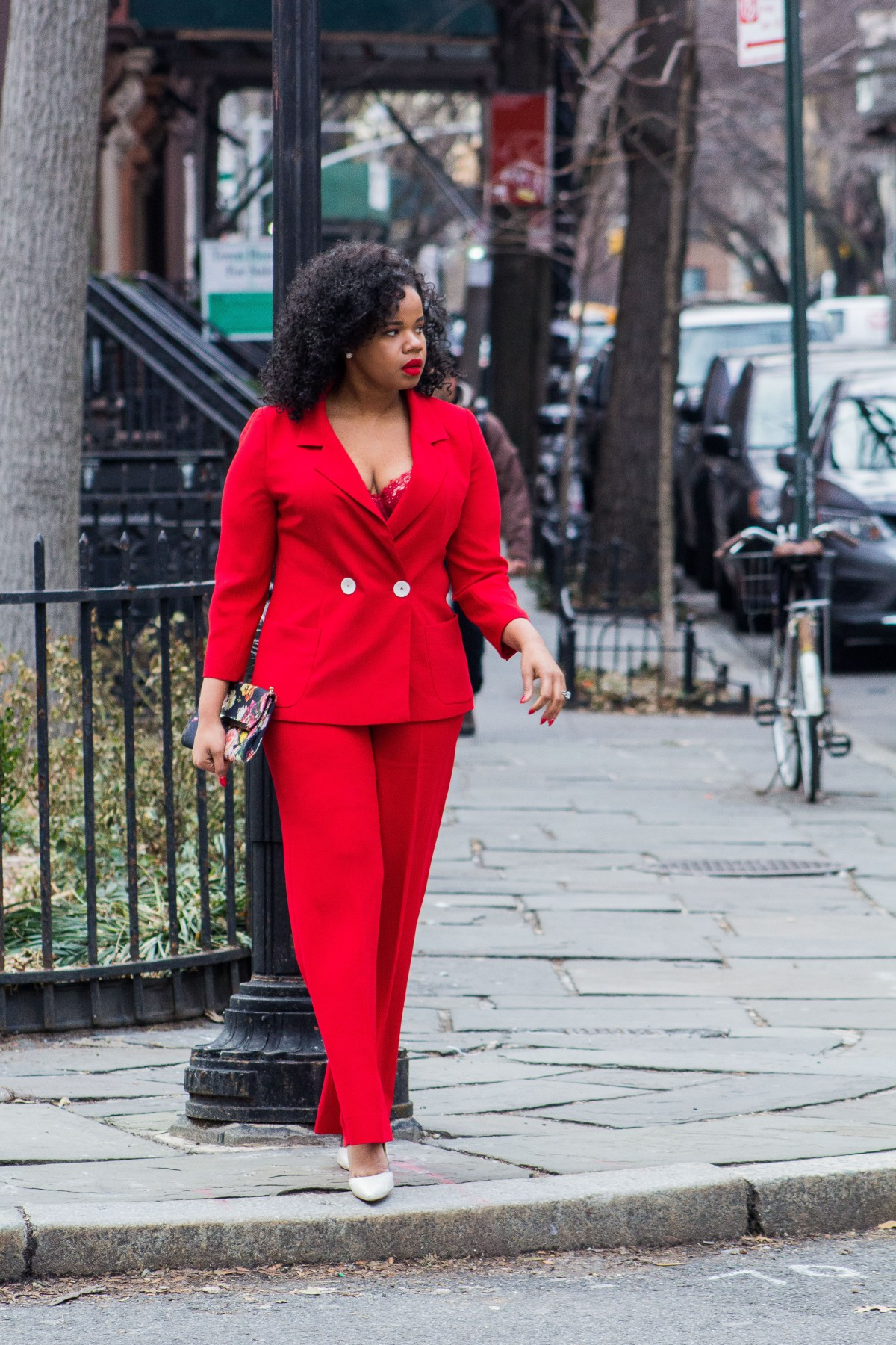 Red oufit