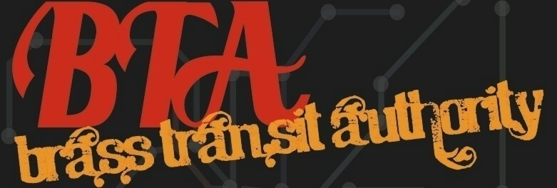 Logo for the Brass Transit Authority band
