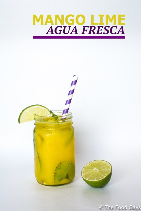mango lime agua fresca | foodgays.com copy