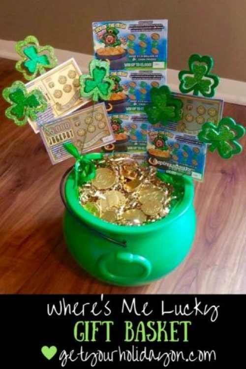 Irish gift basket, lottery basket, gift basket, unique idea, St. Patrick's Day inspired