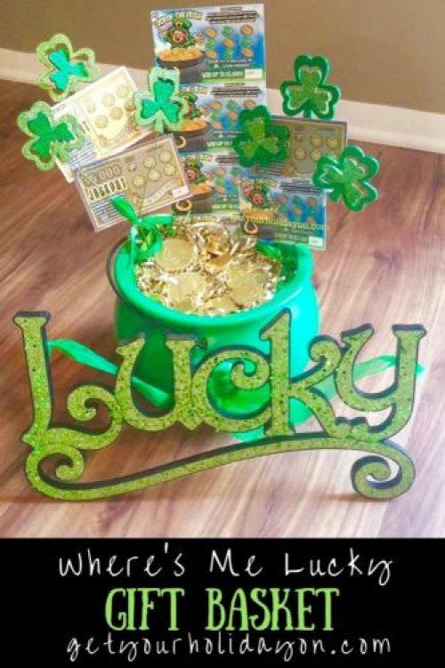 Irish gift basket, lottery basket, gift basket, unique idea, St. Patrick's Day inspired, getyourholidayon.com