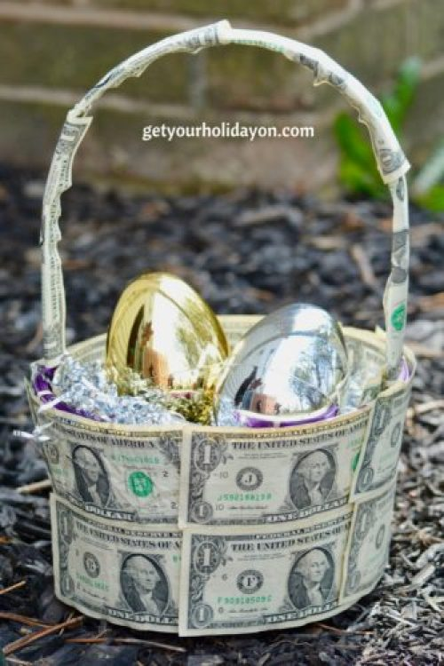 Are you looking for a unique money gift basket that is inspired to strike your creativity? Fill this basket with anything from the many items included in our other baskets or a gold and silver Easter egg with your own creative items inside the eggs. This basket will be sure to be a hit for any tween, teen, or adult.