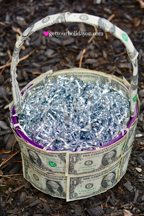 A Unique and Creative Money Gift Basket Idea from getyourholidayon.com