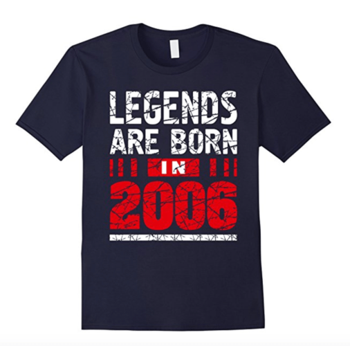 11th Birthday B-day 2006 T Shirt Legends Are Born