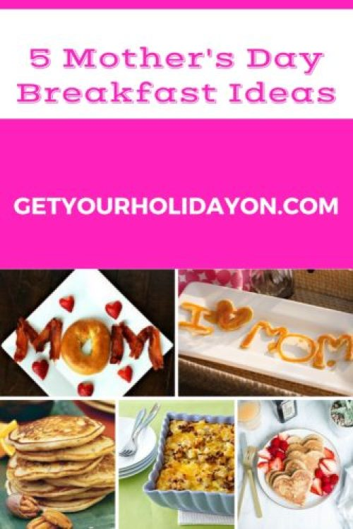 This Mother's Day is approaching fast! Why not make mom a delicious breakfast? Here are 5 Mother's Day ideas for that perfect breakfast.