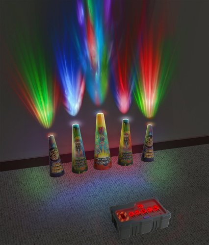 Create a Fireworks Light Show in your room with this light and sound projector.