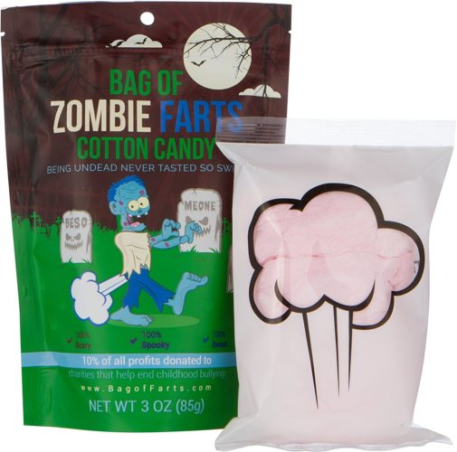 Haha check out this hilarious gift idea for an eleven year old boy. If you're looking for a funny/humor gift idea for your son or another 11 year old boy. Check out this Bag of Zombie Farts Cotton Candy.