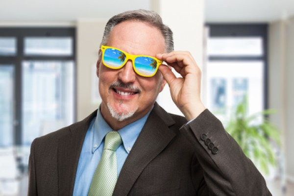 Man with googles illustrating work-life balance in Swedish-American business