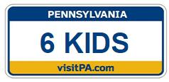 6 Kids Custom License Plate
