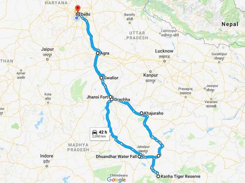 Family-Road-Trip-Delhi-to-kanha-national-park-tiger-reserve
