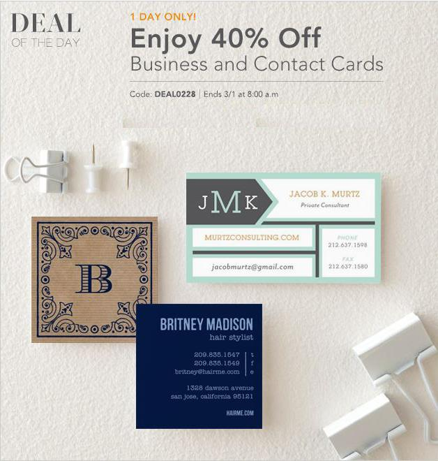 tiny prints deal of the day 40 off business cards life with lovebugs