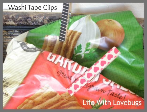 Washi Tape Chip Clip