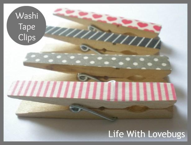 Washi Tape Clips