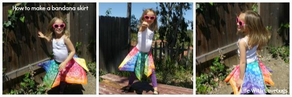 Rainbow Bandana Twirl Skirt