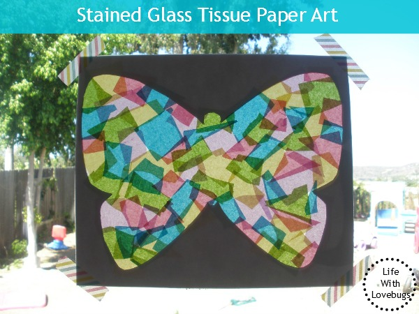 Stained Glass Art Project Tissue Paper