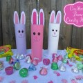 Cardboard Bunny Candy Holder