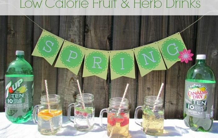 Low Calorie Fruit & Herb Drinks