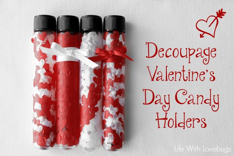 Decoupage Valentine's Day Candy Holders