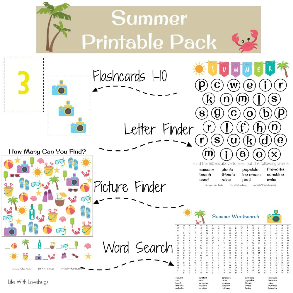 Summer Printable Activity Sheets - Life With Lovebugs