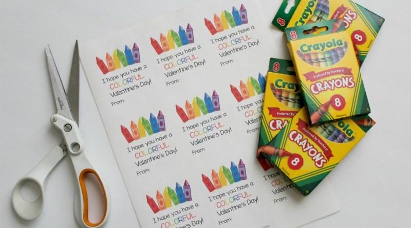 Valentines Day Crayon Box Printable